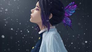 Artwork Women Kimetsu No Yaiba Kochou Shinobu Butterfly 1920x1358 Wallpaper