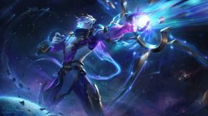 Varus League Of Legends Varus Cosmic Break Hunter League Of Legends Riot Games Stars Galaxy Space 7680x4320 Wallpaper
