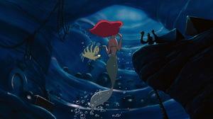 Ariel The Little Mermaid Flounder The Little Mermaid Mermaid Red Hair The Little Mermaid 1920x1080 Wallpaper