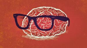 Nerd Brain Weird Orange Color 1920x1080 Wallpaper
