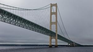 Mackinac Bridge Mackinaw City Michigan 3840x2160 wallpaper