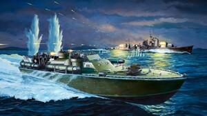 World War Ii Ship Military Vehicle Boat Artwork Military Vehicle War Battle 1332x850 Wallpaper