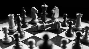 Black Amp White Chess Monochrome 6000x4000 Wallpaper