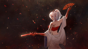 Video Games Anime Anime Girls Video Game Characters Nian Arknights Arknights Silver Hair Blue Eyes P 5076x2855 Wallpaper