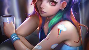 Anime Girls Digital Art Sakimichan My Little Pony Rainbow Dash 1314x1700 Wallpaper