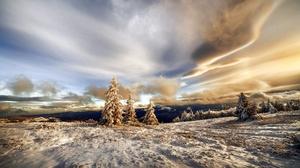 Nature Snow Landscape 2000x1334 Wallpaper