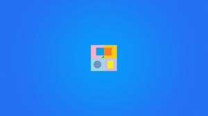 Digital Simple Background Minimalism Shapes Blue Background 1920x1200 Wallpaper