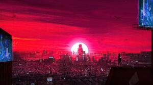 Artistic City Sunset 1920x1080 Wallpaper