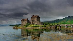 Bridge Castle Eilean Donan Castle Lake Scotland 2048x1362 Wallpaper