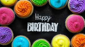 Birthday Colors Cupcake Happy Birthday 5760x3840 Wallpaper