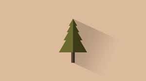 Minimalist Tree 5120x2880 Wallpaper