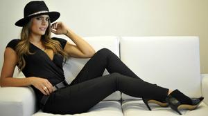 Model Brunette High Heels Couch 2560x1600 Wallpaper