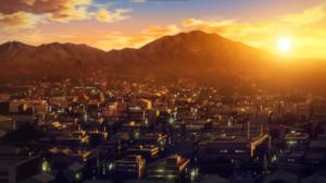Anime Ano Hi Mita Hana No Namae Wo Bokutachi Wa Mada Shiranai Sunset Mountain Top City Orange Backgr 1920x1080 wallpaper