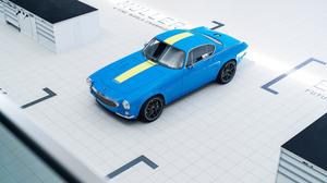 Blue Car Car Sport Car Volvo P1800 Cyan 3840x2160 Wallpaper