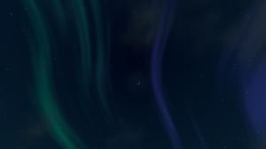 Dark Blue Aurora Sky Stars 1920x1080 Wallpaper