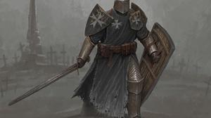 Sword Armor Warrior 3840x3288 Wallpaper