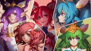 Lux League Of Legends Poppy League Of Legends Jinx League Of Legends Janna League Of Legends Lulu Le 1920x1080 Wallpaper