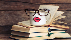 Book Cup Glasses Humor 5760x3840 Wallpaper