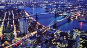 Manhattan New York Brooklyn Bridge Manhattan Bridge 1920x1080 Wallpaper