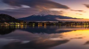 Mount Fuji Volcano Japan Reflection Yamanashi Lake Kawaguchi 2048x1367 Wallpaper