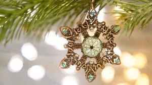 Christmas Decoration Snowflake 2000x1334 Wallpaper