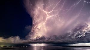 Sea Storm Cloud Horizon 2500x1875 Wallpaper