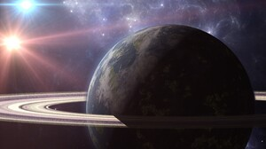 Planet Planetary Ring Sci Fi Space 2880x1800 Wallpaper