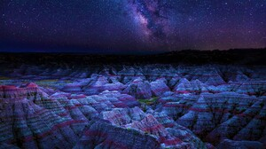 Badlands National Park Earth Mountain Night 3840x2160 Wallpaper