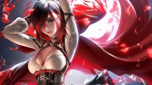 Liang Xing Ruby Rose RWBY RWBY Liang Xing 3000x2142 Wallpaper