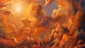 Artistic Cloud Fantasy Girl Little Girl Sunset 1600x1200 Wallpaper