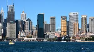 Sydney Harbour City Australia Skyscraper Building 2560x1440 Wallpaper