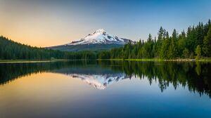 Landscape Lake Forest Reflection Nature 3000x2000 Wallpaper