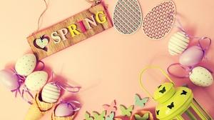 Egg Spring Still Life Waffle Cone 5184x3456 Wallpaper