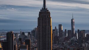 New York City Empire State Building One World Trade Center City Building Skyscraper Portrait Display 1638x2048 Wallpaper
