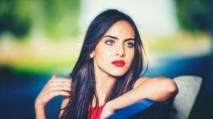 Black Hair Depth Of Field Girl Lipstick Woman 2000x1333 Wallpaper