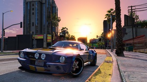 Car City Ford Mustang Grand Theft Auto V 3840x2160 wallpaper