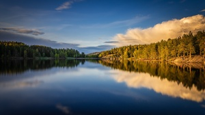 Cloud Forest Lake Norway Reflection Sky 2048x1279 Wallpaper