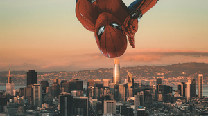 Spider Man Far From Home Sunset Marvel Cinematic Universe 1080x1920 Wallpaper