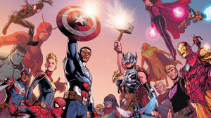 Spider Man Miles Morales Giant Man Sam Alexander Patriot Marvel Comics Kamala Khan Clint Barton Hawk 2560x1440 wallpaper