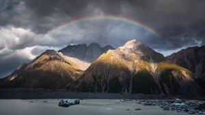 Nature Landscape Mountains Clouds Rainbows 4096x2304 Wallpaper