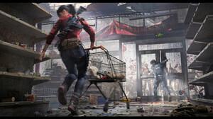 Artwork Video Games Video Game Art Resident Evil Zombies Video Game Horror ArtStation Video Game Man 1920x860 Wallpaper