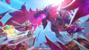 Digital Art Fang Mao Mao Castle Clash Video Game Art Video Game Characters Dragon Battle Artwork 1920x886 Wallpaper