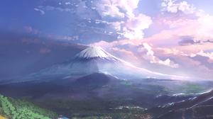 Landscape Digital Art Artwork Mount Fuji Sky Clouds Lake 1000x1414 Wallpaper