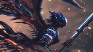 Angel Warrior 3239x1851 wallpaper