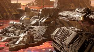 ArtStation Science Fiction Artwork Planet Vehicle 1920x836 Wallpaper