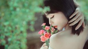 Asian Black Hair Girl Model Mood Woman 2048x1326 Wallpaper