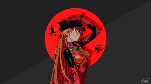 Anime Kanji Evangelion 2 0 Evangelion Anima Asuka Langley Soryu Red Anime Girls 1920x1080 Wallpaper