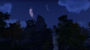 The Elder Scrolls Online Landscape Trees Sky Clouds Mountains 2752x1152 wallpaper