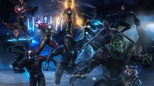 Ant Man Avengers Avengers Endgame Black Widow Bruce Banner Captain America Captain Marvel Carol Danv 3840x2575 Wallpaper