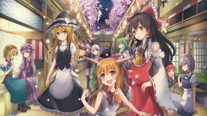 Alice Margatroid Cirno Touhou Hong Meiling Koishi Komeiji Marisa Kirisame Patchouli Knowledge Reimu  5081x3577 Wallpaper